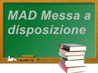 Moduli on line per MAD (messa a disposizione fuori graduatoria)
