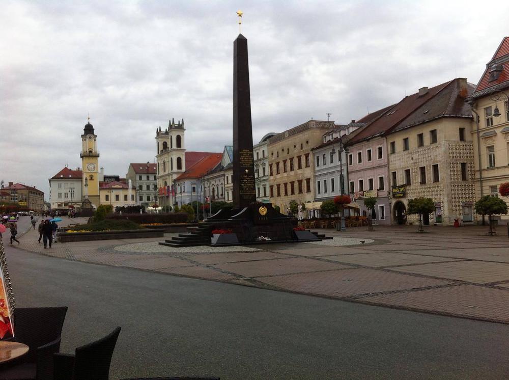 Piazza della città di Banská Bystrica
