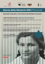 """27 gennaio 2021  """"GIORNO DELLA MEMORIA 2021/RECANATI"""""""