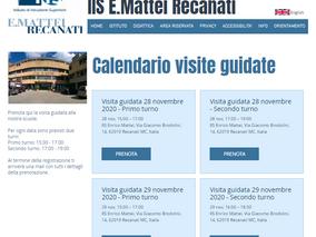 Prenotazioni delle Visite in Presenza 12, 13, 29 dicembre 2020 e 16, 17 gennaio 2020