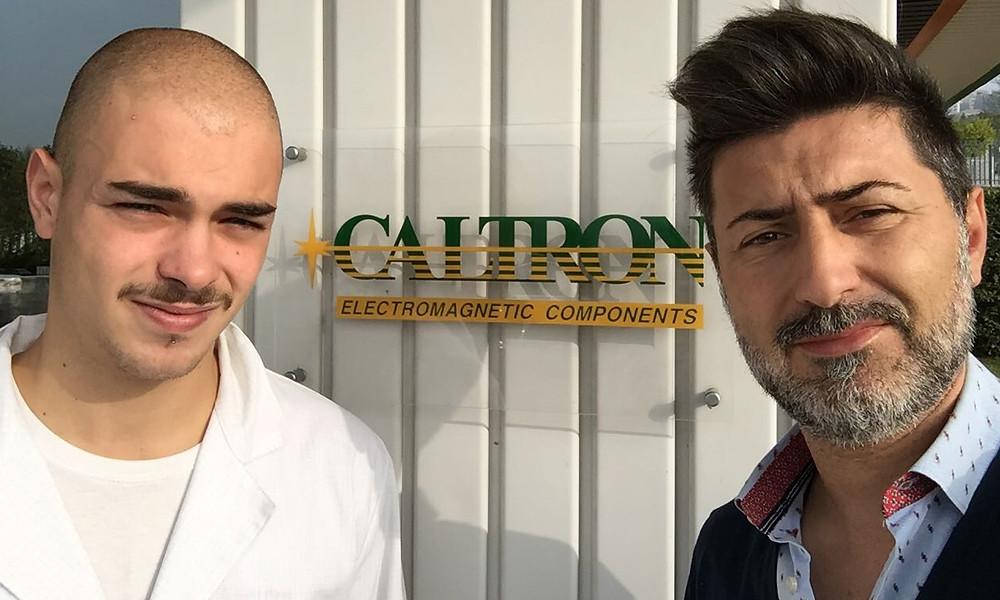 L'azienda Caltron di Castelfidardo con lo studente Mazziotti.