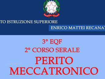 Corso Serale Meccanica: aperte le iscrizioni a.s.2017-18