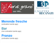 Iscrizione Web-App Merende-Bar-Punto di Ristoro