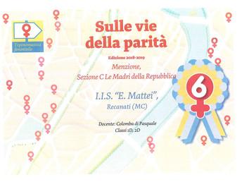 """Premio concorso nazionale """"Sulle vie della Parità"""""""