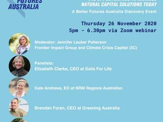 Better Future Australia: November 20-26 Webinar Series