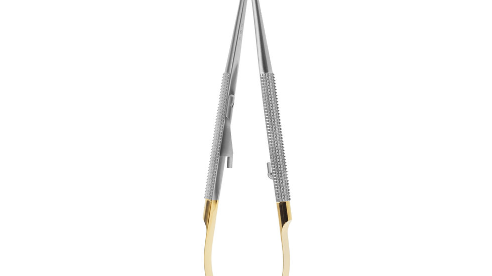 NEEDLE HOLDER CASTROVIEJO mm140 CURVED TC