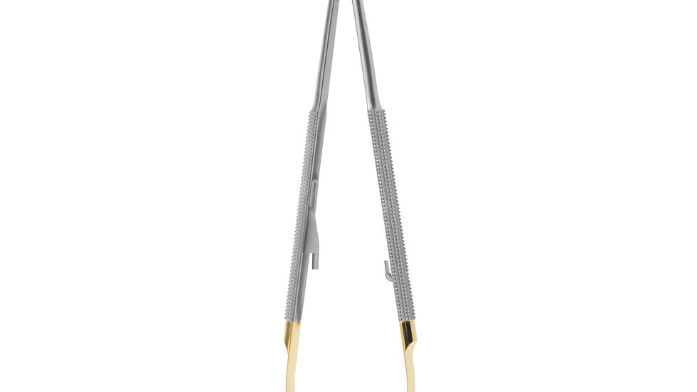 NEEDLE HOLDER CASTROVIEJO mm180 CURVED TC