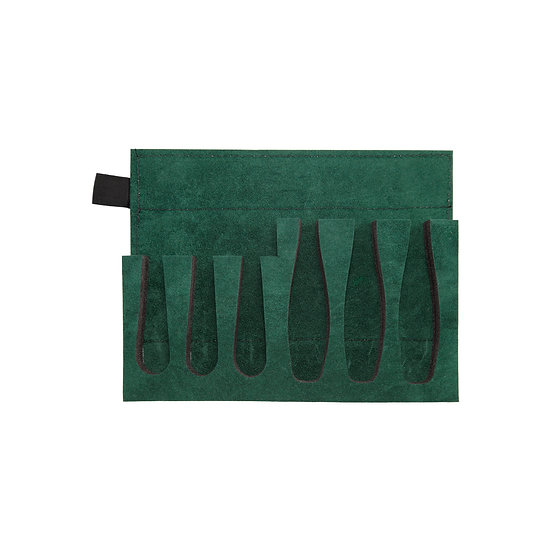 GREEN TRAY WITH PRE-CUT SHAPED HOLDERS (3 SMALL- 3 LARGE)