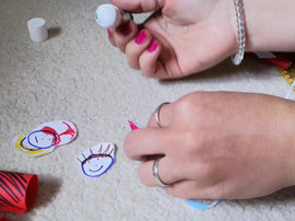 There is no end to the fun that can be had with finger-puppets. Relatively quick and easy to make, these puppets could be the perfect basis for a Zoom activity which has groups of participants making funny scenraios, one-act plays, or expressionsof themes being explored.