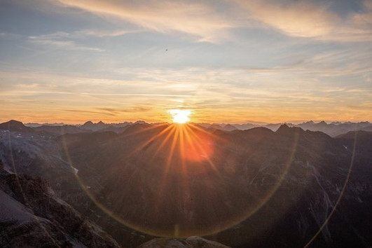 Sonnenuntergang Tabarettahütte