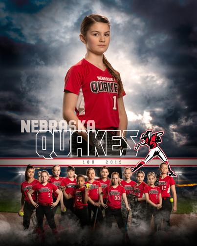 Nebraska Quakes Softball Player