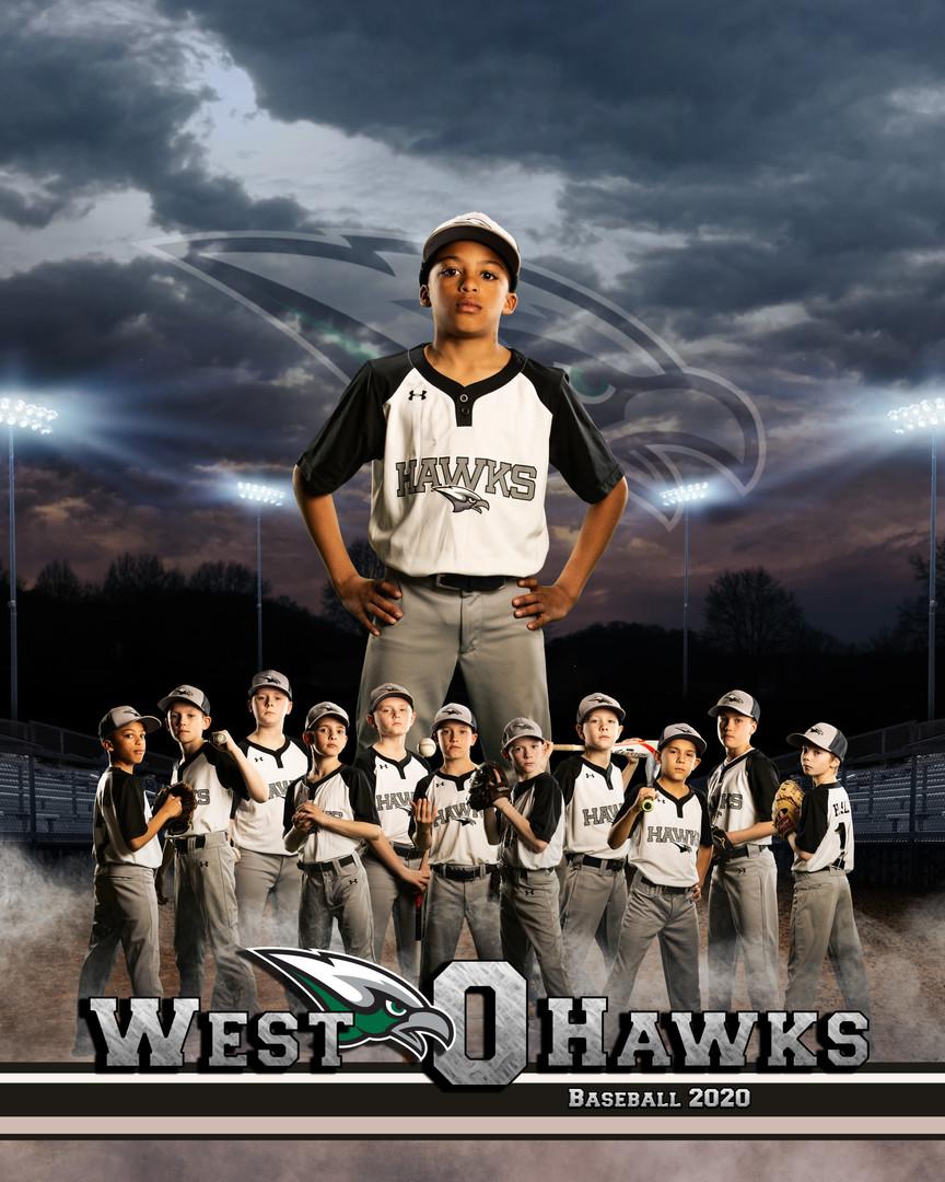 West O Hawks Baseball Player