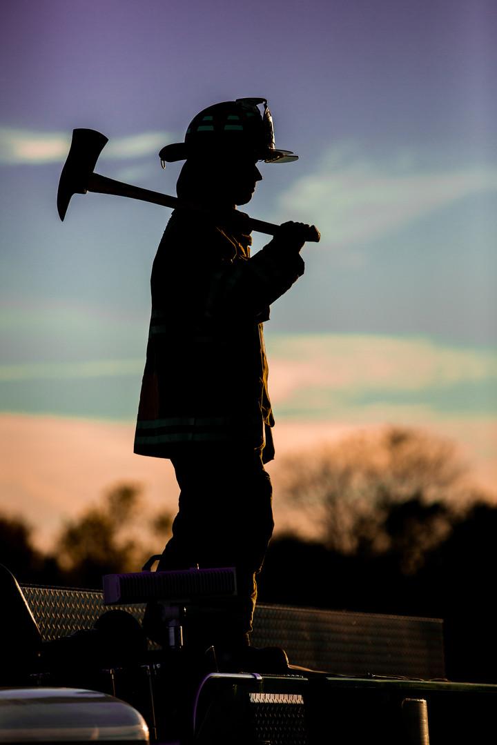 Firefighter | Senior Photographer | Silhouette