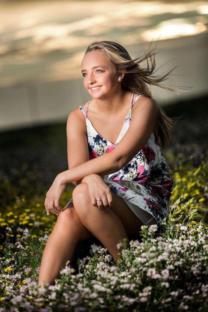 Senior Girl Photo | Floral Dress