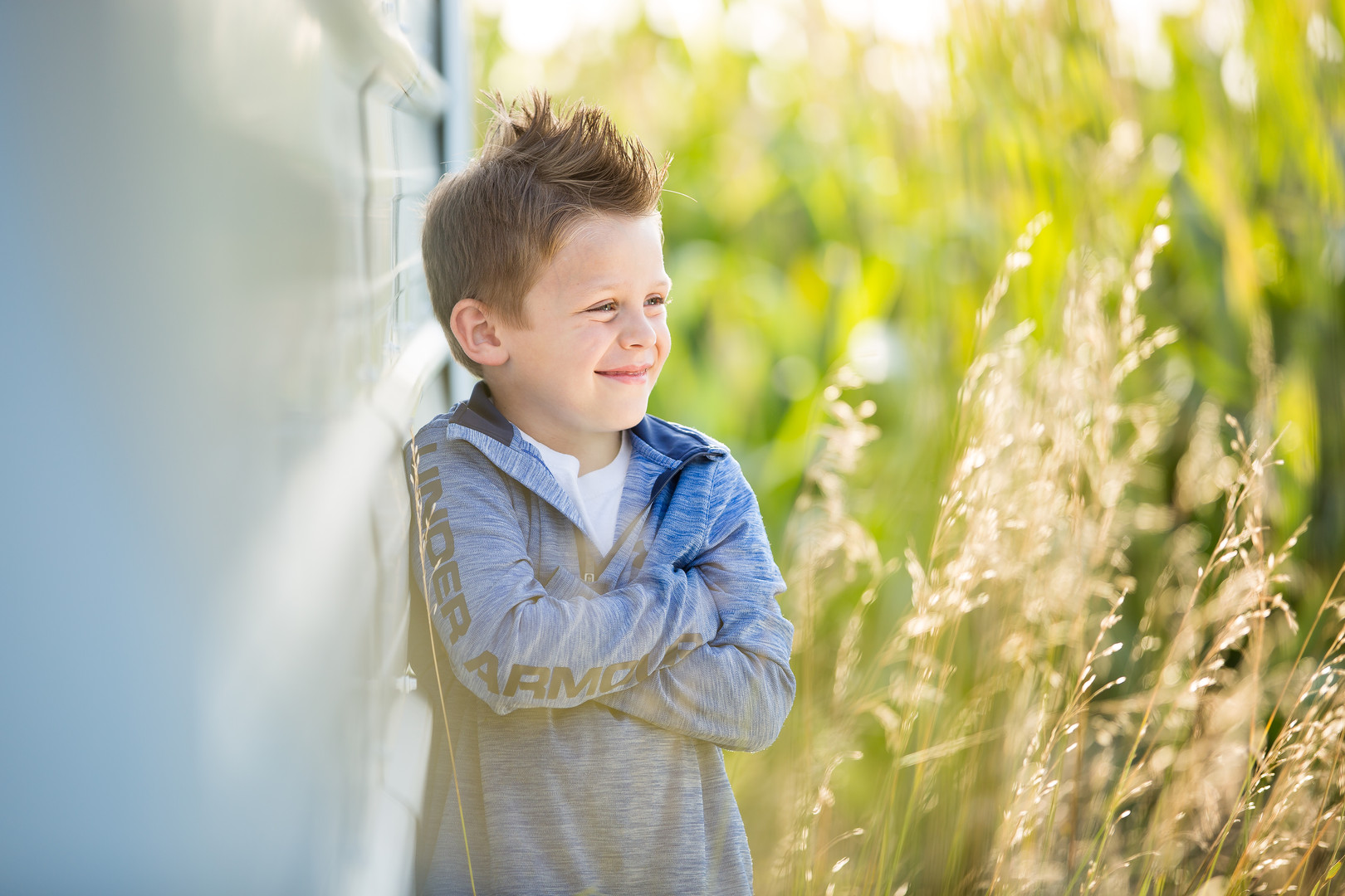 Family Photography | Boy Leaning