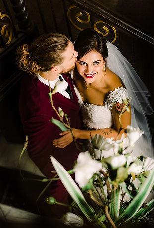 Wedding couple flowers