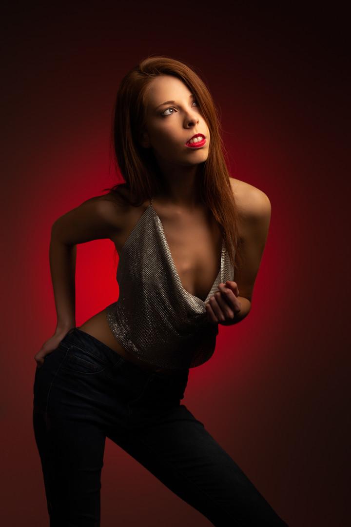 Model Photography   Leaning Sideways