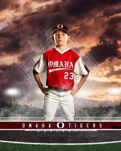 Omaha Tigers Baseball Player