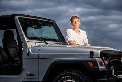 Omaha Senior by his Jeep