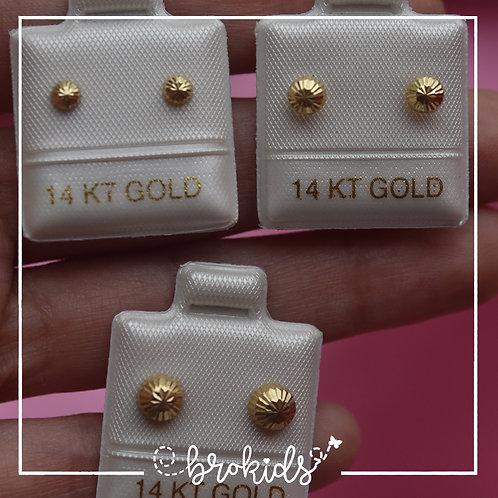 Oro 14K Amarillo Hongo
