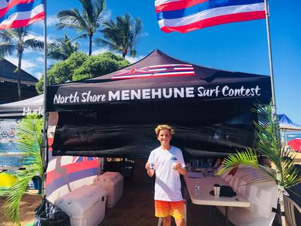 NORTH SHORE MENEHUNE Surf Contest Haleiwa Oct 2018