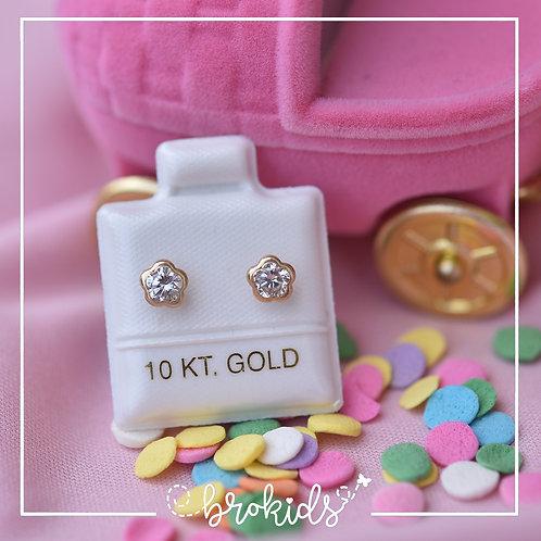Oro 10K Bisel Flor