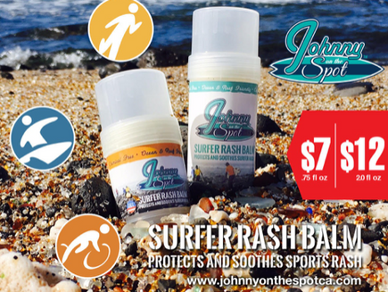 BUY JOS ONLINE! @johnnyonthespotsurfer_rashbalm Ad 1  - Sept 2019