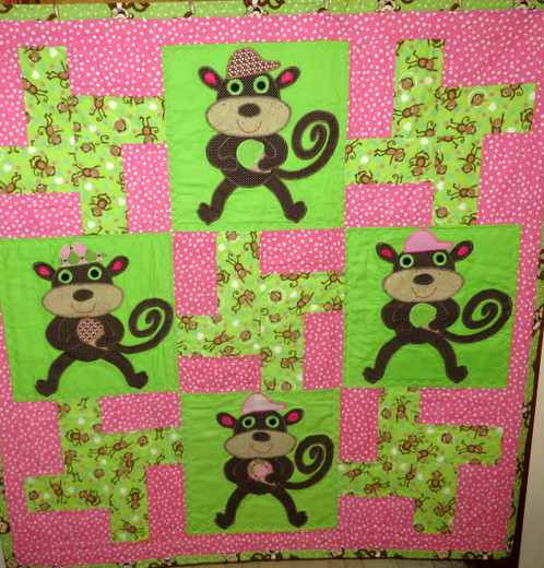 Monkey Business Custom Made Quilts Paper Doll Quilts T Shirt
