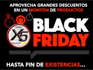 Black Friday en PadelX5, aprovecha