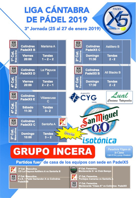 liga padel Cantabria jornada3