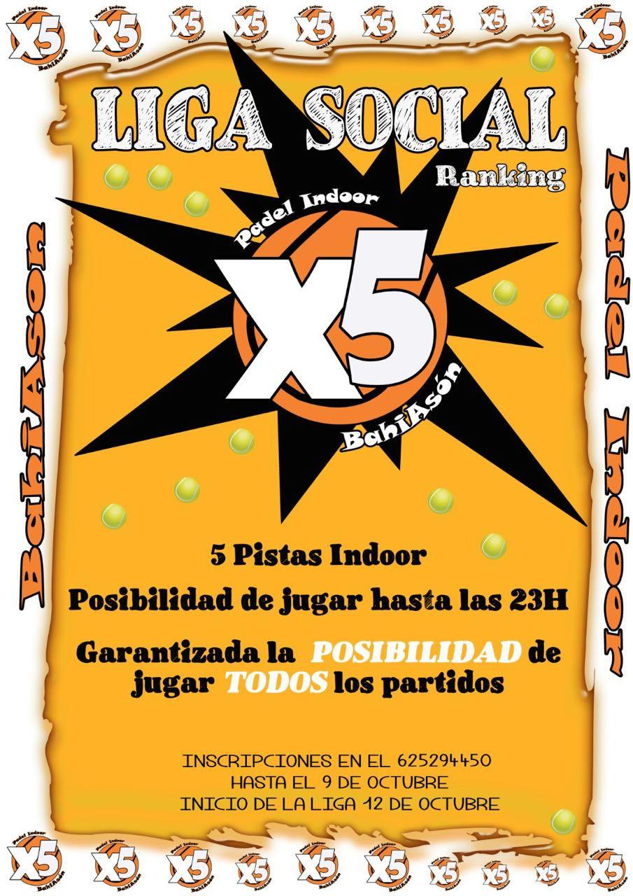 Liga Social padel X5 Bahiason I edición