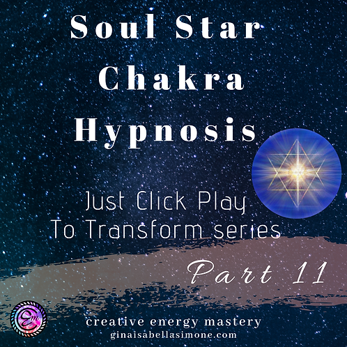 Hypnosis for psychic connection and spiritual awareness. Healing and balance for the soul star chakra.