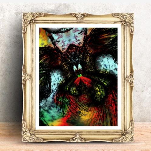 capricorn zodiac sign. Esoteric art. Modern art print for interior design. Design ideas for living room. Modern art. Black