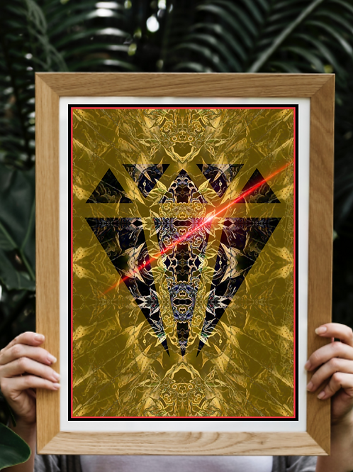 diamond art print. Modern art poster print for living room and office. Gold and black abstract image homeware and interior