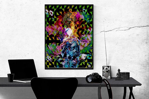 spiritual union and twin flame art. Esoteric art and healing energy. Couples art. Romantic art