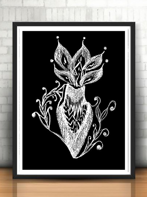 black and white are. Feminine energy artwork. Poster art for interior design. Design ideas for home office. Female power