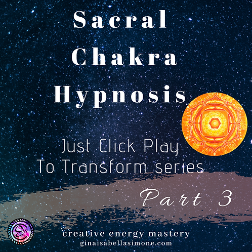 Hypnosis for creativity and hypnosis for sleep. Sacral chakra healing and emotional healing