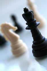 Schach-Stücke Nahaufnahme