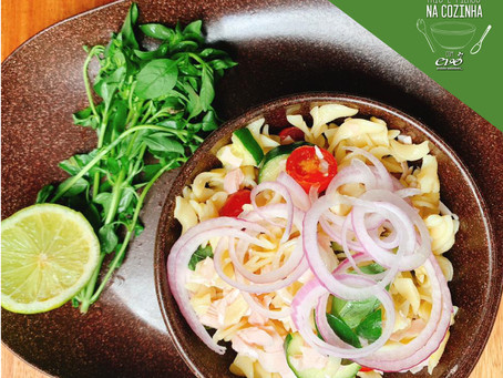 Pais e Filhos na cozinha - Salada de macarrão