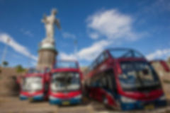 Quito Tour Bus Virgin del Panecillo - visit Quito in a double decker bus to get the best view of the city, see the centro historico, la Ronda, Iglesia de la Basilica, seeing the top places in Quito, Ecuador