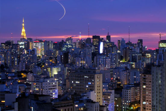 Largest city in South America Brazil at night Visit South America for Rising Cities