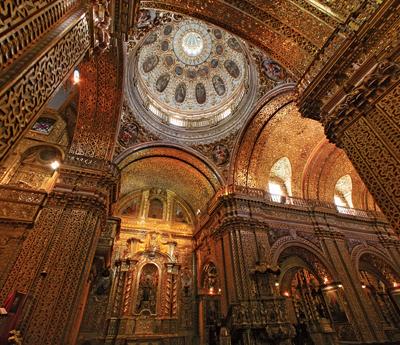 Picture of La Compañía Church inside