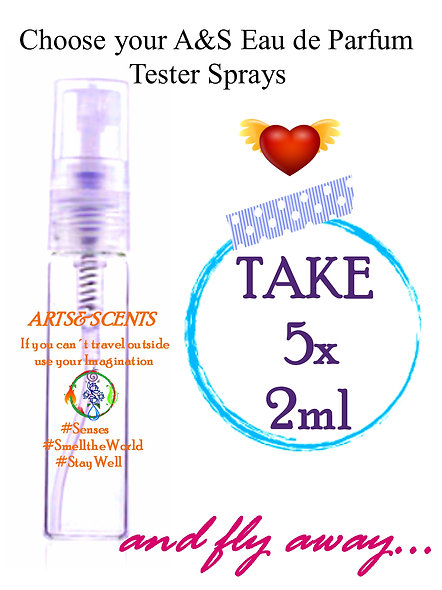 Parfum Tester Set - 5 Little Spray Delights