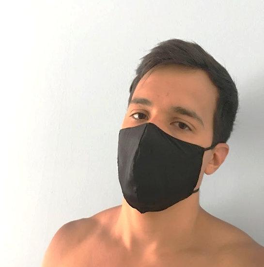 Herren Black Silk - Seide Alltagsmaske