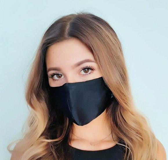 Damen Black Silk - Seide Alltagsmaske