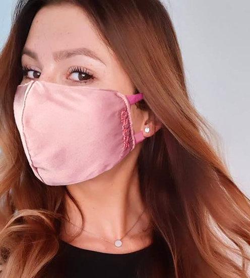 Rose Dust - Seide Alltagsmaske