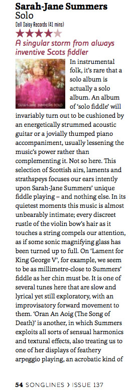 Songlines SOLO review Sarah-Jane Summers April 2018 1/2