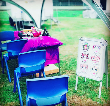 Face painting at festicvals