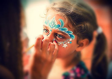 Princess crown face paint