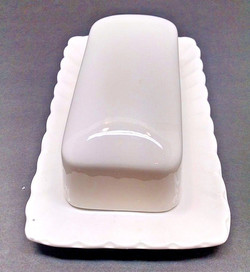 All White Butter Dish